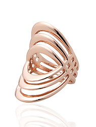 Ibecci Rows Geometric Plating Rose Gold Womens Party Rings