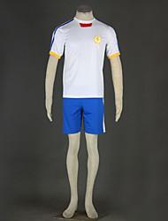 Cosplay Japanese Team Soccer Uniform White Movement  Lightning Eleven