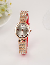 Women's Silicone Diamond Bracelet Watch
