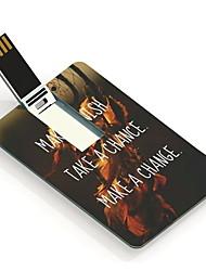 16GB Wish Chance and Change Design Card USB Flash Drive