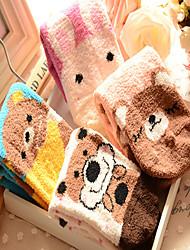 Women Cute Cartoon Images Cotton Medium Socks