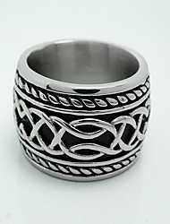 Men's Retro Punk Titanium Ring