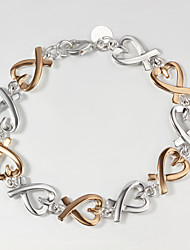 Italy 925 Silver and Gold Heart Design Bracelet Hottest Fashion Indian Bangles Bracelets