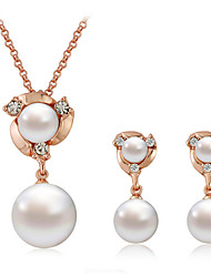 Korean Pearl Jewelry Suit(Earrings&Necklace)