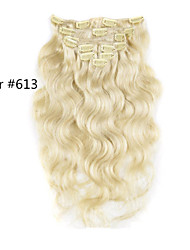 10inch-30inch 120g Clip In Brazilian Hair Extensions Color(#1 #1B #613) Body Wave Clip In Extensions