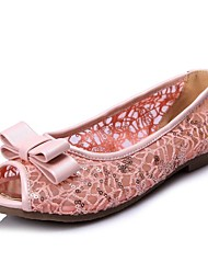 Women's Shoes   Flat Heel Peep Toe Flats Casual Blue/Pink/White