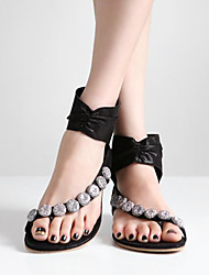 Women's Shoes Black Flat Heel 0-3cm Sandals (Synthetic)