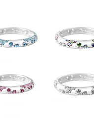 Cute / Casual Alloy / Gemstone & Crystal Bangle Bracelet