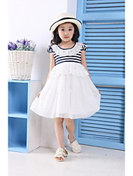 Kid's Casual/Cute/Party Dresses (Cotton Blend)