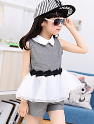 Kid's Summer Dress & pant Two-pieces Clothing Sets