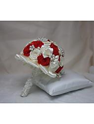 Elegant and Novel Bride Wedding Bouquet Festive Red Hand Bouquet Wedding