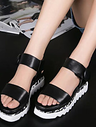 Bovine thick Heels Sandals women's Rome wind