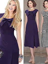Women's Dresses , Cotton Blend Sexy/Bodycon/Cute/Party Sleeveless VICONE