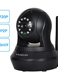 Mustcam H808P Wireless Network IP Camera with IR-Cut H.264 WPS Alarm Micro-SD Storage Two-way Audio OnVif