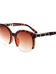 Sunglasses Women's Fashion Browline Black / White / Coffee / Beige / Dark Red / Black-white / Leopard Sunglasses Half-Rim
