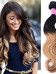 """3 Pcs/Lot 12""""-26"""" 100% Indian Unprocessed Virgin Human Hair #1B-27 Color Ombre Body Wave Hair Weaves"""