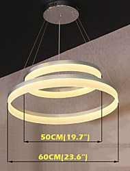 Round LED Pendant Light Modern Acrylic Lamps Lighting Luxurious Double Rings D5060 Ceiling Lights Fixtures