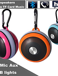 Outdoor RGB MiNi Bluetooth Speaker Micro SD Mic AUX Portable Handfree for iPhone6 Plus Samsung S6 and Other Cellphone