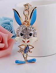Rabbit Rhinestone Keychain