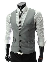 Duobilun Men's Casual/Work Sleeveless Vests (Cotton)
