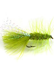 12pcs 6 # oliva Woolly amaldiçoa voar iscas de pesca