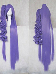 Stylish Purple Cosplay Wig Synthetic Hair Wigs Middle Long Kinky Curly  Animated Wigs Party Wigs 008D