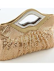 Handcee® New Fashion Design Shining Woman Handbag Mouth Shape Clutch Bag