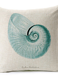 Modern Style Shell Patterned Cotton/Linen Decorative Pillow Cover