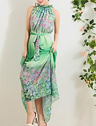 Women's Beach Micro Elastic Sleeveless Maxi Dress (Chiffon)