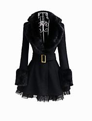 Manteau Lolita Classique/Traditionnelle Noir Lolita Accessoires Manteau / Ceinture Pour Féminin Laineux