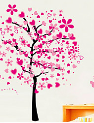 Wall Stickers Wall Decals, Peach Blossom PVC Wall Stickers