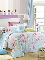 Home Textile 4pcs Bedding Sets Noble High-Grade Tencel Duvet Cover Bed Sheet Pillowcase Flat Sheet
