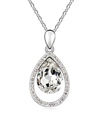 Wonderful Life Short Necklace Plated with 18K True Platinum Clear Crystallized Austrian Crystal Stones