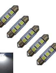 JIAWEN® 5pcs Festoon 36mm 1W 3x5050SMD 60LM 6000-6500K Cool White Reading Light LED Car Light (DC 12V)