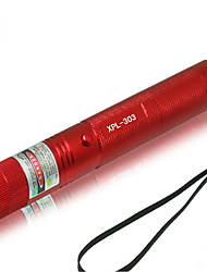 XPL-303LG5 Aluminum Alloy Low-end Flashlight Shaped Star Green Laser Pointer(5mw,532nm,18650,Red)