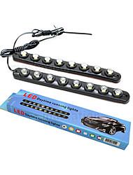 5W E26/E27 Luz de Decoração 8 LED de Alta Potência 1200 lm Branco Frio Decorativa DC 12 / DC 24 V 2 pçs