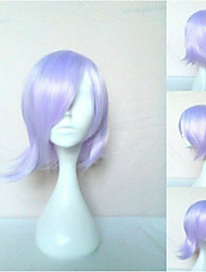 Purple Synthetic Hair Cosplay Wig Short Straight Animated Wigs Cartoon Wigs Party Wigs Full Wig