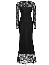 Women's Lace Sexy Casual Party V Neck Lace Maxi Dress