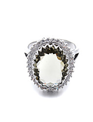 Brass Ladies Beautiful CZ Ring(More Colors)