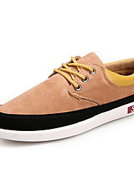 Men's Shoes Casual Canvas Fashion Sneakers Black/Yellow/Gray