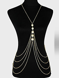 Women's Body Jewelry Body Chain Alloy Unique Design Fashion Jewelry Gold Jewelry Party 1pc