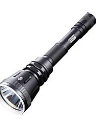 LED Taschenlampen (Wasserdicht/Wiederaufladbar/Stoßfest/rutschfester Griff/Kompakte Größe/Clip/Taktisch/Notfall/Notwehr/Super Leicht/High