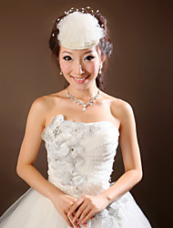 Women Satin/Tulle Forehead Jewelry With Imitation Pearl Wedding/Party Headpiece