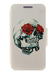 kinston® rose&crâne modèle complet du corps PU Housse avec support pour Huawei G510 / P7 / P8 / p8 lite et Huawei honneur 6 / 6x / 6