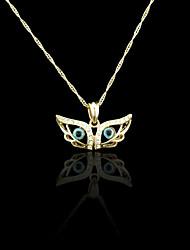 18k banhado a ouro verdadeiro mal cor pingente de olho 3.2 * 1,5 centímetros