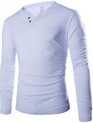 MEN - T-shirts ( Katoen )met Lange Mouw