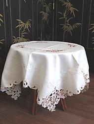 klassieke witte geborduurde tafelkleden vierkant (maat: 110cmx110cm)