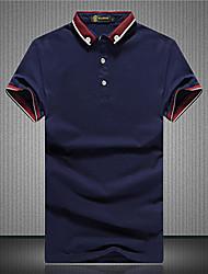 Men's Short Sleeve Polo , Cotton Casual/Sport Pure