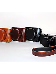 Dengpin PU Leather Oil Skin Detachable Camera Cover Case Bag for Leica D-Lux Typ 109 (Assorted Colors)