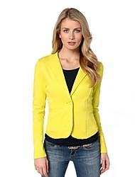 Women's Blue/Pink/Green/Yellow Blazer , Casual/Work Long Sleeve